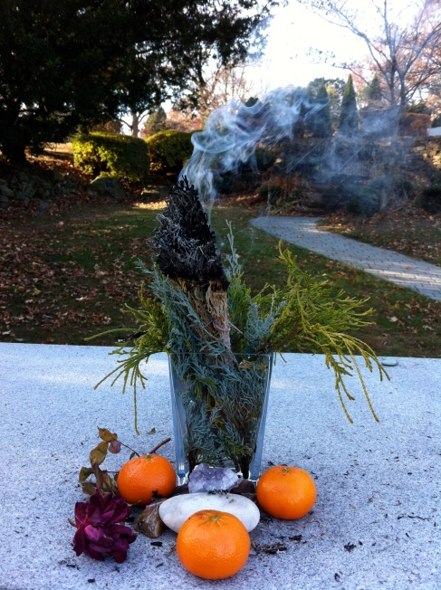 What I See: Sage Smudge at the Cemetery